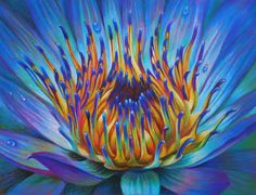 Veronica Winters - Blue Lily (Colored Pencil)