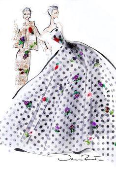 Oscar de la Renta, Spring Summer 2014 #NYFW #fashion #sketch