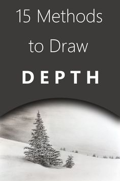 Methods to draw and paint depth and space in a realistic way. Realistic Pencil Drawings, Pencil Drawing Tutorials, Art Tutorials, Cool Drawings, Realistic Eye, Drawing Techniques, Drawing Tips, Painting Tips, Painting & Drawing