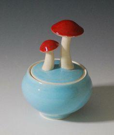 mushroom jar #etsy #ceramics
