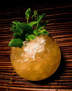 TRADER VIC`s SANCTIONED RECIPE   1 oz dark Jamaican rum 1 oz Martinique rum 1 oz fresh lime juice (one lime) 0.5 oz curacao 0.25 oz each of orgeat and simple syrup  Mix all ingredients and shake with ice.  Strain into a glass over crushed ice. Garnish with lime shell and a sprig of mint (very important).    Ingredients NOT to use is grenadine and orange or pineapple juices, or amaretto or anything else that is not in the original Vic`s recipe.