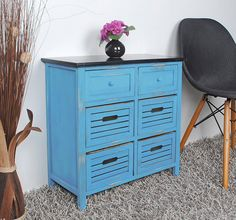Industrial Vintage Cupboard Shabby Chic Chest Of Drawers Rustic Retro Sideboard Retro Sideboard, Credenza, Shabby Chic Chest Of Drawers, Color Azul, Vintage Industrial, Cupboard, Dresser, Sweet Home, Rustic