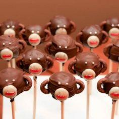 Monkey Cake Pops for your little monkey!