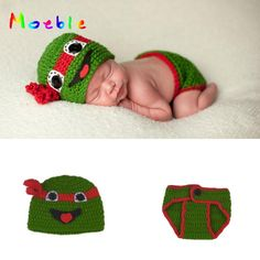 Crochet Ninja Turtles Newborn BABY Boy Photo Prop Knitted Infant Baby Hat&Diaper Set for Photo Baby Cosplay Costume MZS-16068. Yesterday's price: US $3.46 (2.96 EUR). Today's price: US $2.21 (1.89 EUR). Discount: 36%.
