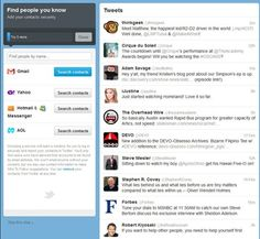 How to Set Up Your New Twitter Account 7 of 21  Import => invite friends from email accounts