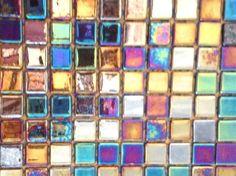 Mosaïque émaux de verre , noir nacré par plaque de 33.50 cm- Achat mosaique salle de bain