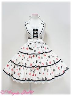 Royal Cards JSK in White, by Angelic Pretty. I only want this cut and colourway.