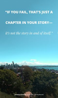 """""""If you fail, that's just a chapter in your story--it's not the story in and of itself."""" Jonathan Poneman, Co-Founder, Sub Pop Records"""