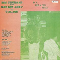 Bim Sherman meets Horace Andy & U-Black In A Rub-A-Dub Style (back cover)