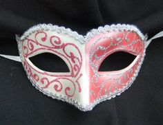 Pink & White 2 tone Petite Mask  This is a fantastic website!