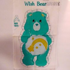 "Vintage Care Bear "" Wish Bear"" Fabric Doll Panels by NewAgain on Etsy"