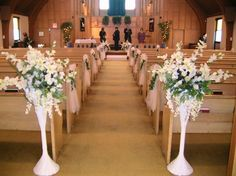21 Stunning Church Wedding Aisle Decoration Ideas to Steal | Church ...