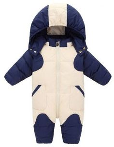 a74e71dda GainKee Baby Girl and Boy Snowsuit Duck Down Jacket Kids Snow Wear Hooded  Puffer Jumpsuit Winter Warm Romper Medium Height 23 To 25 915 month Blue *  Details ...
