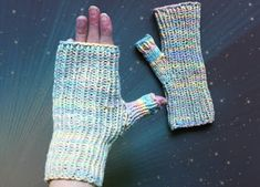100% Cotton Fingerless Gloves 4 Dry Hands - video tutorial, free pattern