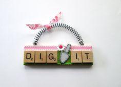 Gardening Flowers Dig It Scrabble Tile by ScrabbleTileOrnament