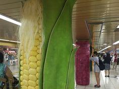 JA・ウォール・ファーマーズ・マーケット 新宿メトロスーパープレミアムセット+野菜柱巻 2015.8.31