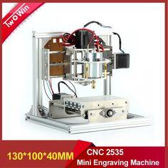 143.00$  Buy now - http://ali93p.worldwells.pw/go.php?t=32655076161 - PCB cnc milling machine cnc rounter lather DIY lather cnc 2535, Wood Carving Mini Engraving router PVC working area 130*100*40mm 143.00$