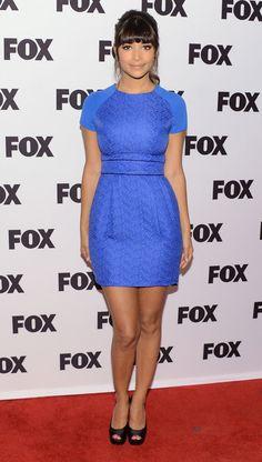 Hannah Simone, from New Girl - Blue dress