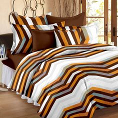 ... Discounted #Deal Price   579 Price   1499 Story@Home #Magic 152TC  #Cotton Double #Bedsheet With 2 #Pillow Covers   #Brown Cotton Bedsheets  For #Double ...