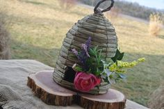 We Bee-long together or Bee Mine Table topper Country Wedding Decor Weaved Bee Hive Table Setting by JCBees, $47.00