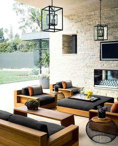 Outdoor Living Get-A-Way Modern Outdoor Furniture, Modern Patio, Teak Furniture, Furniture Decor, Furniture Design, Furniture Layout, Refurbished Furniture, Garden Furniture, Bedroom Furniture