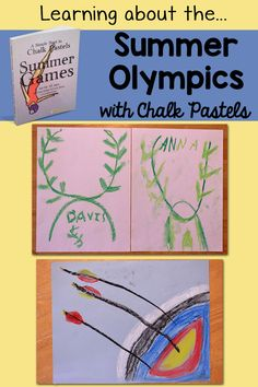 We're studying the summer Olympics in our homeschool, using chalk pastels. A great art medium for ALL ages!