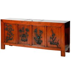 For Sale on - The unique square corner coffer with a lift top and doors on both sides for accessing to the storage spaces, rectangular-sectioned frame members carved Chinoiserie, Art Furniture, Modern Furniture, Four Seasons Art, Coffer, Oriental Design, Chinese Antiques, Rare Antique, Asian Art