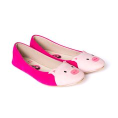 Piggy Melati: Pig-shaped Flat Shoes on Etsy, $25.00