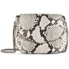 Rochas Grey Snakeskin Saint Sulpice Bag (7.981.775 IDR) ❤ liked on Polyvore featuring bags, handbags, evening handbags, grey evening bag, grey handbags, gray purse and grey purse