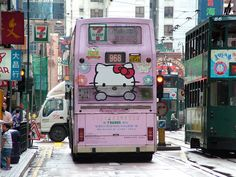 Hello Kitty bus ..only in Japan :). i love hello kitty. only if they had it in usa.