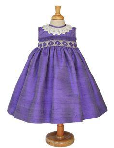 Baby girls silk purple sleeveless dress 24m by CarouselWear