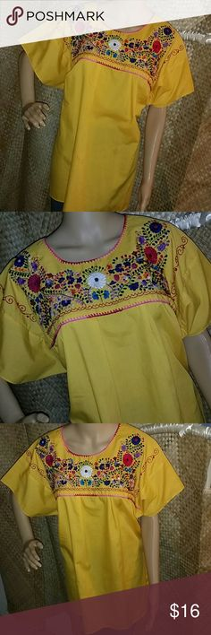 🍒Tunic🍒 Nice Tunic with beautiful embroidery.  Handmade in Mexico, XL size. Tops Tunics