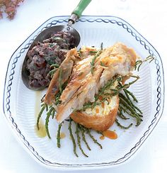 Braaied snoek with moskonfyt & olive crush South African Recipes, Cooking Instructions, How To Squeeze Lemons, In The Flesh, Fish And Seafood, Recipe Collection, Cooking Time, Dessert Recipes, Desserts
