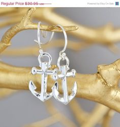 SALE Sterling Silver Anchor Earrings  by TheJewelryGirlsPlace