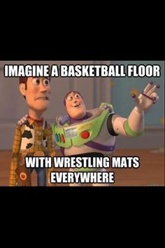 I laughed more than I should've. Best sight to see. When the men get down to wrestle, the little boys are on the courts, playing with their balls.
