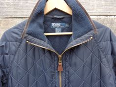 Vintage Polo Ralph Lauren navy blue quilted lined by Simplemiles, $74.00