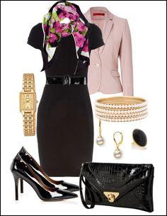 Office outfit - I like the pink jacket, dislike the shoes