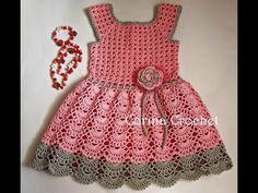 Video tutorial paso a paso vestido niña crochet Crochet Baby Poncho, Crochet Bikini Pattern, Crochet Toddler, Baby Girl Crochet, Crochet Baby Clothes, Crochet For Kids, Baby Knitting, Little Dresses, Girls Dresses