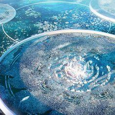 Fantasy Concept Art, Weapon Concept Art, Fantasy Artwork, Fantasy City, Fantasy Places, Fantasy World, Fantasy Art Landscapes, Fantasy Landscape, Futuristic City
