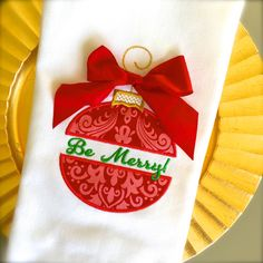 """Christmas+Ornament+Split+Applique+-+Create+gorgeous+holiday+dish+towels,+pillows,+wall+hangings+and+more+with+Christmas+Ornament+Split+Appliques!+Set+includes+a+blank+and+a+bonus+""""Be+Merry""""+ornament+applique+in+the+following+sizes: Hoop+size:+4x4,+Design+size:+3.02""""+x+3.89"""" Hoop+size:+5x7,+Design+size:+4.5""""+x+6.8"""" Hoop+size:+6x10,+Design+size:+5.5""""+x+8.3"""""""