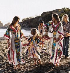the Mingot sisters, Gypset Style; the stunning dresses, which are made in Chiapas, Mexico, are actually sold on the family's online boutique Les Gazelles..