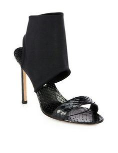 MANOLO BLAHNIK Sacco Snakeskin Sandals