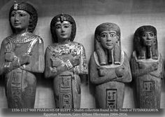 """1336-1327 900l PHARAOHS OF EGYPT – Shabti collection found in the Tomb of TUTANKHAMUN. Egyptian Museum, Cairo ©Hans Ollermann 2004-2016."" ^**^"