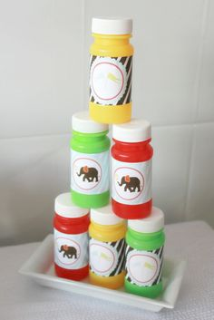 """bubbles party favour  Photo 9 of 19: Circus/Carnival / Birthday """"Jayden's Circus 1st Birthday"""" 