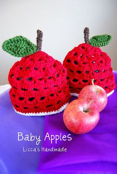 Baby Apples Baby Apple, Knitting Designs, Apples, Crochet Earrings, Quilting, Etsy, Ideas, Knitting Projects, Patchwork