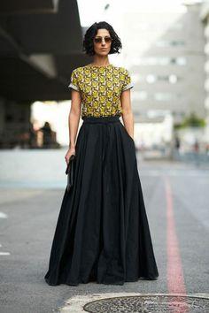 la jupe maxi très à la mode                                                                                                                                                                                 Plus