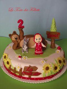 Masha and the Bear cake/Torta Masha e Orso