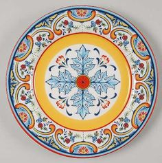 Euro Ceramica Zanzibar Salad Plate – My Pin's Glazes For Pottery, Ceramic Pottery, Pottery Art, Ceramic Painting, Ceramic Art, Ceramic Plates, Decorative Plates, Porcelain Dolls Value, Fine Porcelain