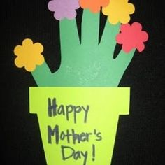 Mothers Day craft for toddlers.  This is cute idea, I would add a photo of the child on the pot and have them color it as well!!!!