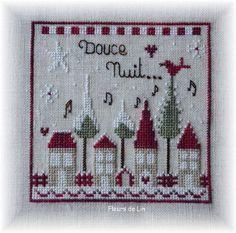 Envie d'une petite grille ... Noël approche à grand pas ... Pour faire un petit coussinet... A accrocher... * ** *** !! Douce nuit de Noël chez Fleurs de Lin dans la rubrique Noël !! A bientôt ! * ** *** **** !!